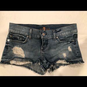 7 for all mankind - denim shorts - EUC